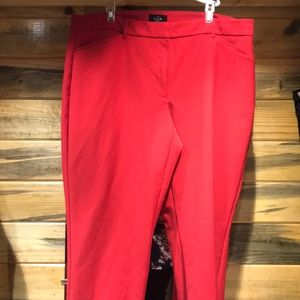 WHBM Red slim ankle pants size 14